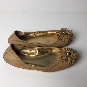 COACH Ariza Nubuck Leather Flats